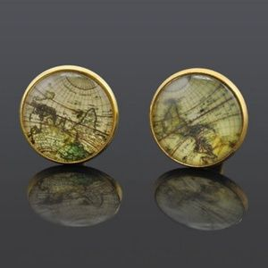 Other - Old World Map Gold Cufflinks
